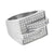 Mens Stainless Steel Ring Simulated Diamonds Wedding Engagement Pave Set 19 MM