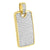 Stainless Steel Dog Tag Pendant Yellow Finish With Chain