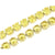 Tennis Stainless Steel Chain Canary Lab Diamond 10mm Gold Finish 36