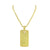 Dog Tag Pendant Gold Finish Canary Chain
