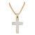 Rose Gold Cross Pendant 14k On Stainless Steel Lab Create Diamond Free Necklace