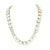 Gold Tone Tennis Necklace Round Cut Stainless Steel 10mm 20 Ct Lab Diamonds 36