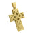 Gold Finish Cross Pendant Stainless Steel Pave Set
