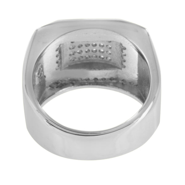 Stainless Steel Wedding Ring Engagement Party Wear Simulated Diamonds Unique