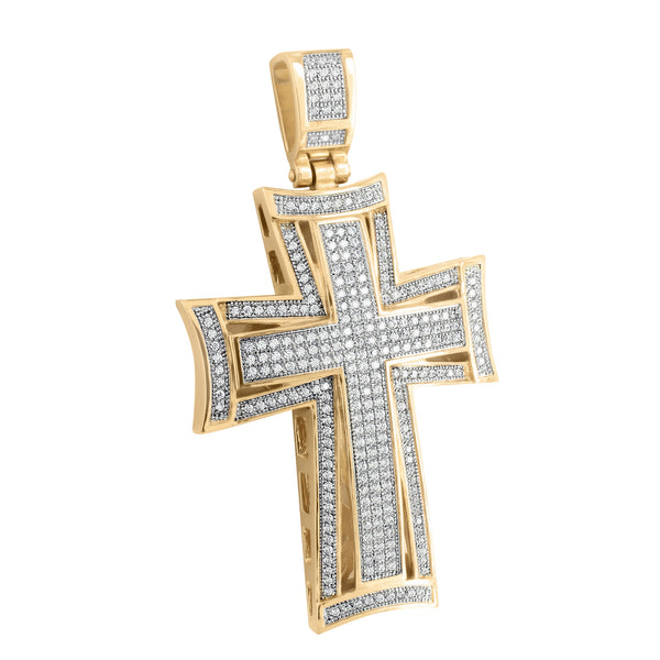 Stainless Steel Cross Pendant Jesus Crucifix Rose Gold Finish