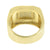 Stainless Steel Ring Yellow Gold Finish With Lab Diamonds Available in Variable size