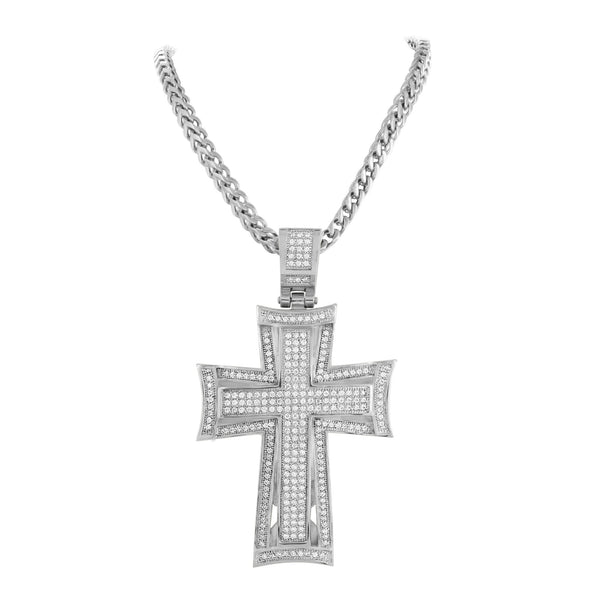 Stainless Steel Jesus Cross Pendant Crucifix
