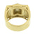 Gold Finish Mens Ring Wedding Stainless Steel Simulated Diamonds Engagement