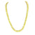 Mens Tennis Design Necklace Chain Canary Lab Diamond Stainless Steel 6 MM 26 IN