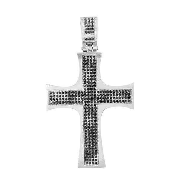 Cross Pendant White Stainless Steel Charm 316