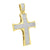 Gold Finish Cross Pendant Men Jesus Crucifix Stainless Steel