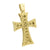 Stainless Steel Cross Pendant Custom Jesus Charm Gold Finish Canary Chain