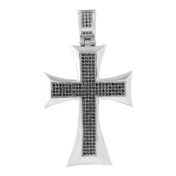 Stainless Steel Cross Pendant Black With Chain