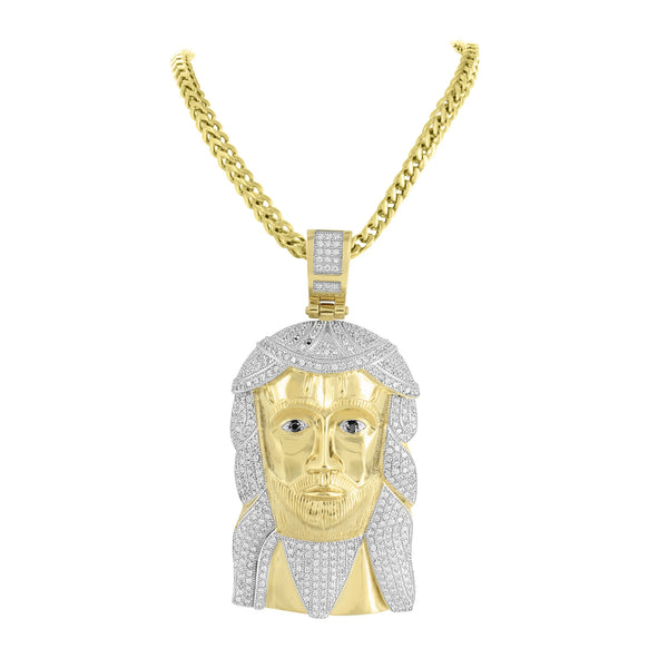 Jesus Pendant Gold Finish Stainless Steel With Chain