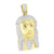 Jesus Pendant Gold Finish Stainless Steel