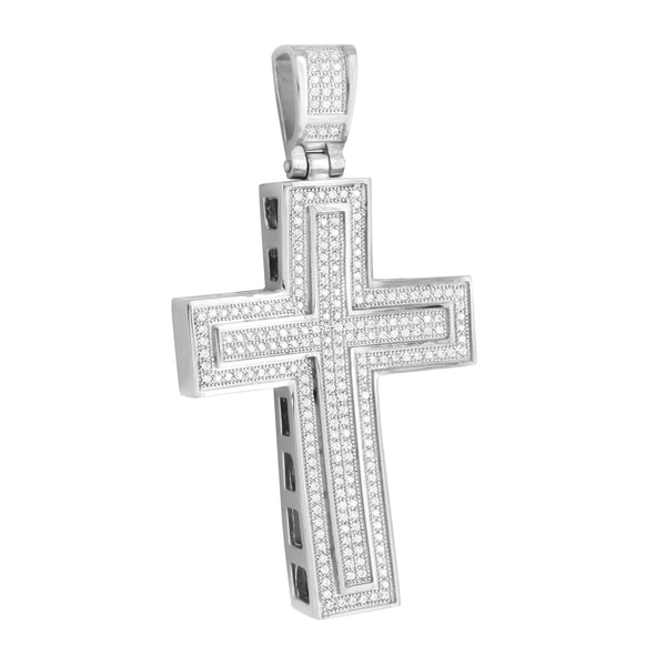 Stainless Steel Cross Pendant Jesus Crucifix Charm