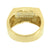 Mens Wedding Ring Band Gold Over Stainless Steel Simulated Diamonds Pave Set New