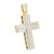 Gold Finish Mens Cross Pendant Stainless Steel Charm