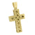 Gold Finish Mens Cross Pendant Stainless Steel Charm With Chain