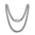 Stainless Steel 14mm Miami Cuban Link 14k White Gold Finish Chain 30