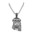 Stainless Steel Jesus Pendant Black Lab Diamond With Chain