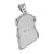 Stainless Steel Jesus Pendant Black