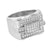 Mens Wedding Ring Simulated Diamonds Stainless Steel Pave Set Unique Designer