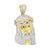 Gold Finish Jesus Pendant Stainless Steel Tear Drop Chain Set
