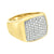 Wedding Engagement Rings Mens Simulated Diamonds Gold On Stainless Steel Elegant