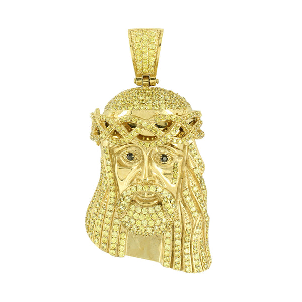 Jesus Pendant Gold Over Stainless Steel Canary