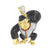 Video Game Character Ape Pendant Gold Stainless Steel Multi Color