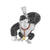 Video Game Ape Pendant Red Black White Stainless Steel Unique New With Chain