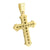 Stainless Steel Cross Pendant Yellow Finish With Chain