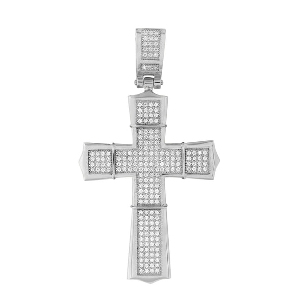 Mens Jesus Cross Pendant Custom