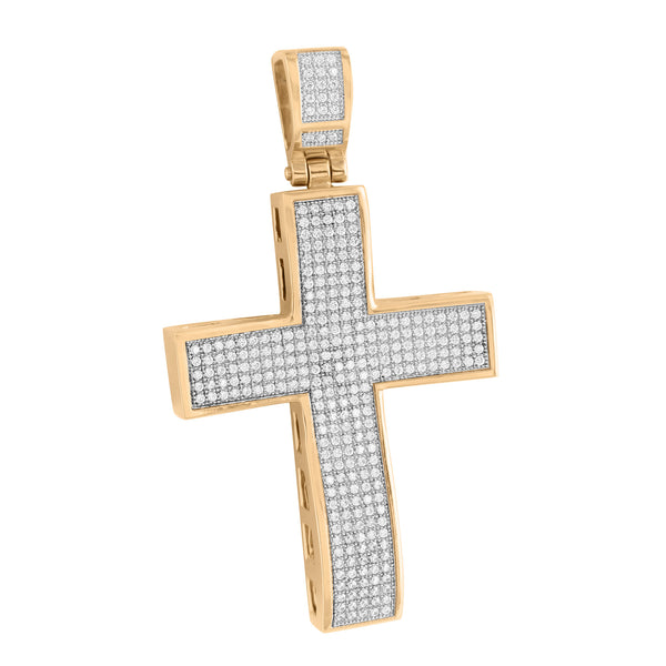 Men Rose Gold Cross Pendant Stainless Steel