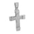 White Stainless Steel Cross Pendant Chain Set