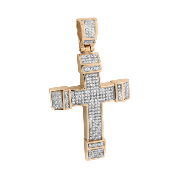 Mens Jesus Cross Pendant Stainless Steel