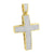 Gold Finish Jesus Cross Pendant Pave Set With Chain
