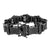 Mens Black PVD Bracelet Solid Stainless Steel 316 Black Lab Diamonds Brand New
