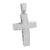 Mens Cross Crucifix Pendant Jesus Charm White