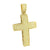 Gold Finish Mens Cross Pendant Yellow Gold Finish With Chain