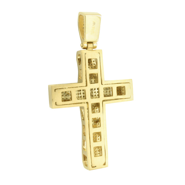 Stainless Steel Cross Pendant Yellow