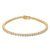 Stainless Steel 14k Gold Finish Designer 3mm Solitaire Tennis Link Custom Bracelet