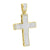 Mens Stainless Steel Jesus Cross Pendant Yellow Gold Finish Charm Chain Set