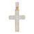 Jesus Cross Pendant Rose Gold Over Stainless Steel