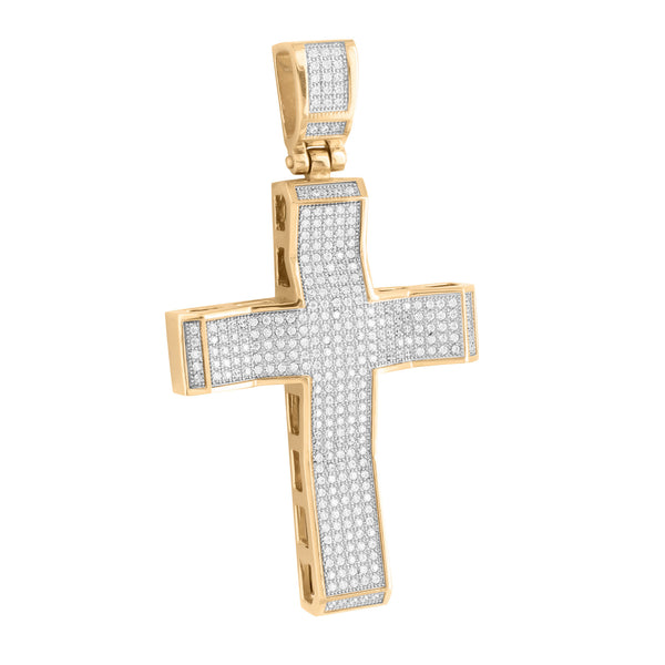 Jesus Cross Pendant Rose Gold Over Stainless Steel With Chain