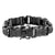 Black Stainless Steel Bracelet Black Lab Diamonds Micro Pave Designer Link 19 MM