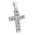 Stainless Steel Cross Pendant Mens Large 3.6 Inch Chain Set