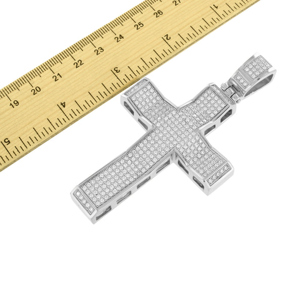 Stainless Steel Cross Pendant Mens Large 3.6 Inch