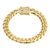 Designer Stainless Steel 14k Gold Finish Miami Cuban Link Bracelet New Iced Out Lock